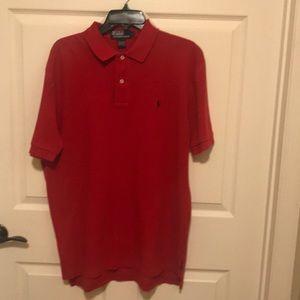 Red Polo by Ralph Lauren men's shirt